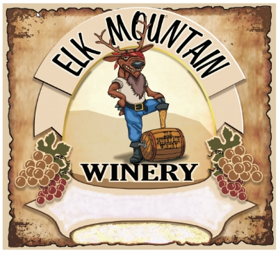 Elk Mountain Winery - WINE LABEL
